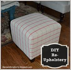 Diy Reupholster Ottoman by I Did It Reupholstering Cube Ottomans Tutorial Lilacs And