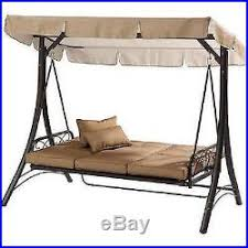 Swing Bed With Canopy Outdoor Porch Swing With Canopy Steel Patio Furniture Hammock