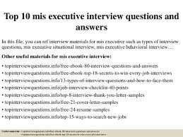 Help Desk Manager Interview Questions Sample Mis Executive Cover Letter Executive Cover Letter Sample