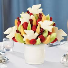 fruit arrangements los angeles peace doves bouquet edible arrangements