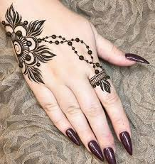 minimal henna design simple flowery mehndi design on hand like