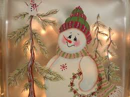 lighted glass block snowman need to look for these pre drilled