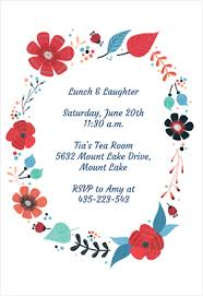 free invitations templates flower chain printable invitation customize add text and photos