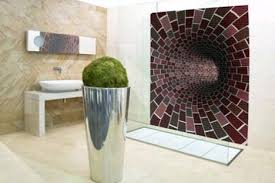 wall to wall art realistic mosaic bathroom tile patterns