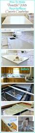 How To Cut A Sink Hole In Laminate Countertop How To Make Diy Cast In Place White Concrete Countertops Plastic