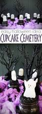 halloween party idea cupcake cemetery