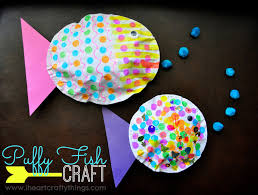 simple button fish craft for kids i heart crafty things