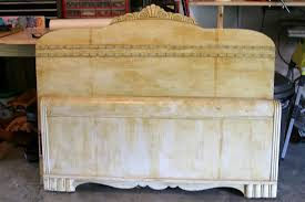 Antique Headboard And Footboard How To Make A Headboard Bench From A Vintage Bed Petticoat Junktion