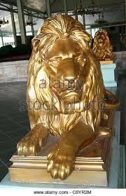 gold lion statue golden lion statue gold royal stock photos golden lion statue