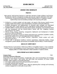 marketing manager resume marketing manager resume template premium resume sles exle