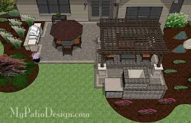 Patio Designs With Pergola by Corner Patio Design For 6 U0027