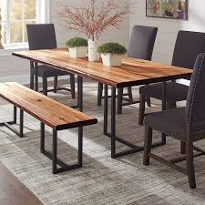 wood rectangular dining table shop dining tables at lowes com