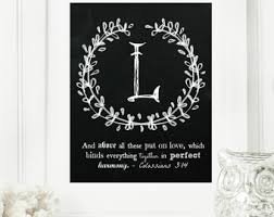 Letter L Home Decor by Letter L Printable Etsy