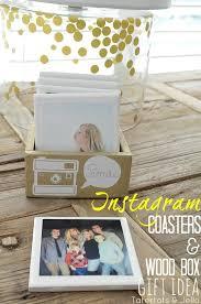 gift idea diy instagram coasters in custom box tatertots and jello