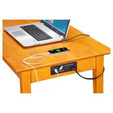 Rectangular Office Desk Shaker Rectangular Office Desk 1 Drawer Charging Station Dcg