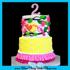 sweet tweets 2nd birthday cake cake by karin giamella cakesdecor