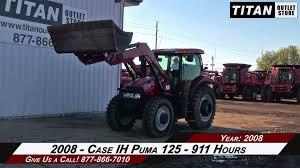 case ih puma 125 911 hrs l760 loader 3 remotes wts tractor