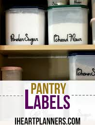 pantry labels i heart planners