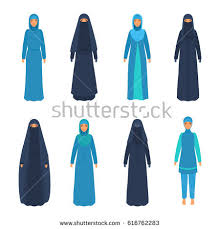 east clothing set various middle east women national stock vector 616762283