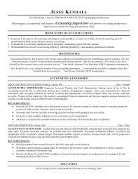 Career Change Resume Samples by Accounting Supervisor Resume Sample Career Change Resume Examples