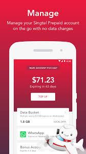 prepaid account singtel prepaid hi app android apps on play