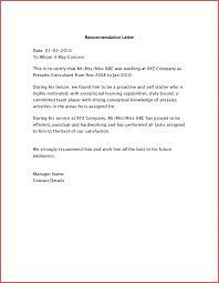 doc 600700 letter of recommendation for job u2013 sample