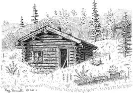 log cabin drawings sketches of alaska log cabin post office is about the only