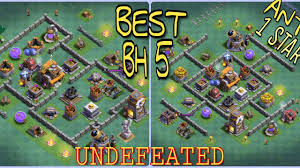 top best coc builder hall 5 undefeated anti 1 star bases design