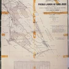 San Jose Map by Calisphere San Jose Pueblo Lands Map 1866