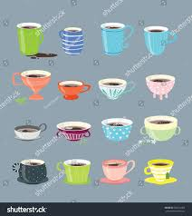 vector design elements different coffee cups stock vector
