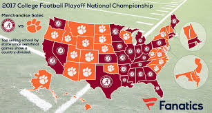 Alabama State Map by Clemson Tigers Vs Alabama Crimson Tide Which Is Most