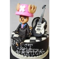 2 layers one piece chopper black u0026 white stylist birthday cake