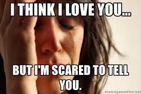 I Think I Love You Meme - i think i love you but i m scared to tell you first world