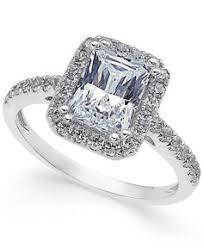 Macys Wedding Rings by Arabella Sterling Silver Ring Swarovski Zirconia Three Stone Ring