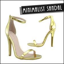 minimalist sandal imac gold ankle strap sandal www fabrebel