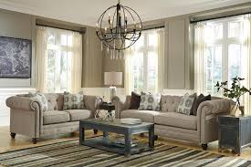 Linen Chesterfield Sofa by Transitional Chesterfield Sofa With Linen Blend Fabric By