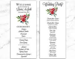 winter wedding programs winter wedding programs etsy