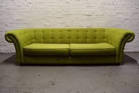 dfs lime green chesterfield style fabric sofa delivery available