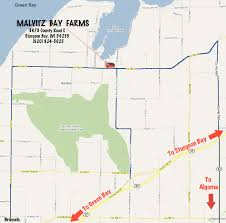 Google Maps Wisconsin by Directions To Malvitz Bay Farms Located In Door County Wisconsin