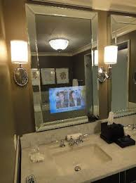 Bathroom Mirrors Chicago Neat Tv The Bathroom Mirror Picture Of Waldorf Astoria