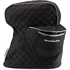kitchenaid fitted tilt head stand mixer cover in onyx black