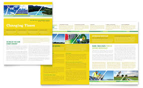 environmental conservation newsletter template word u0026 publisher