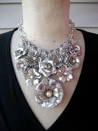 metal flower necklace images 157 best bib necklaces images jewelry ideas jpg
