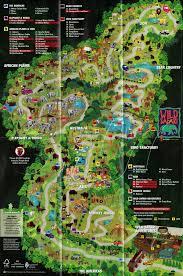 6 Flags Map Great Adventure History 2012 Wild Safari Animal Park Map