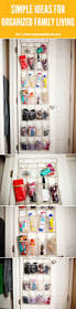 simple ideas for organized family living closet station