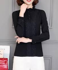 online get cheap womens high neck ruffle blouse aliexpress com