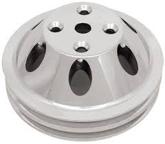 amazon com csi c9483 polished aluminum water pump pulley double