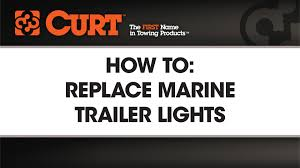 how to install submersible marine trailer lights curtmfg youtube