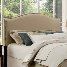 king upholstered headboard with nailhead trim product