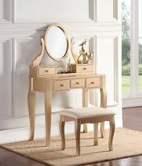 Oak Makeup Vanity Table Unfinished Vanity Table
